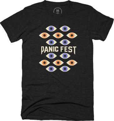 panic fest 2022 shirt all eyes logo